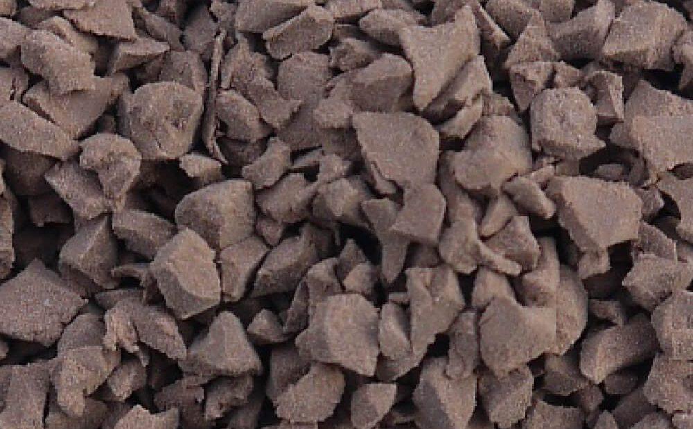 Brown rubber crumb
