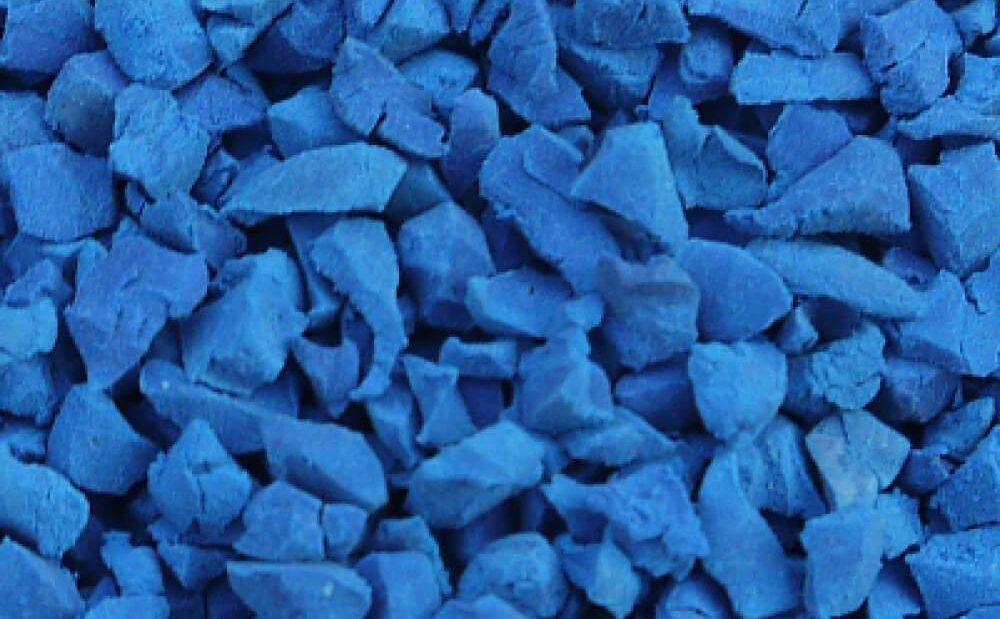 Dark blue rubber crumb