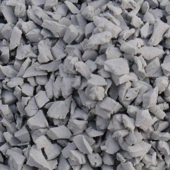 Grey rubber crumb
