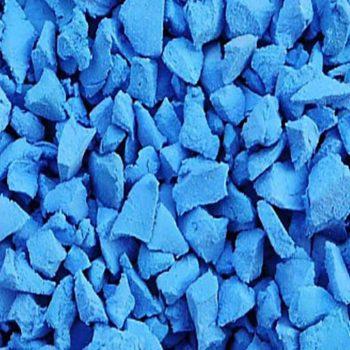 Light blue rubber crumb