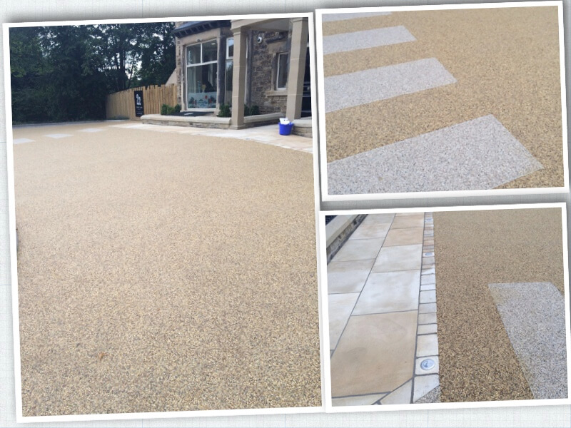 commercial resin bound paving at a nursery