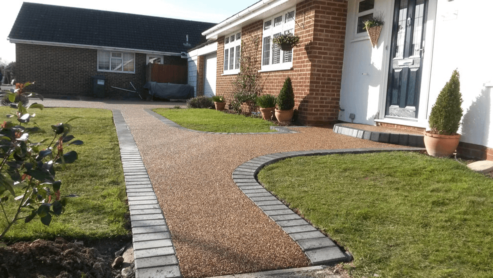 block paving and resin bound pathway