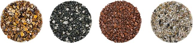 resin driveway samples