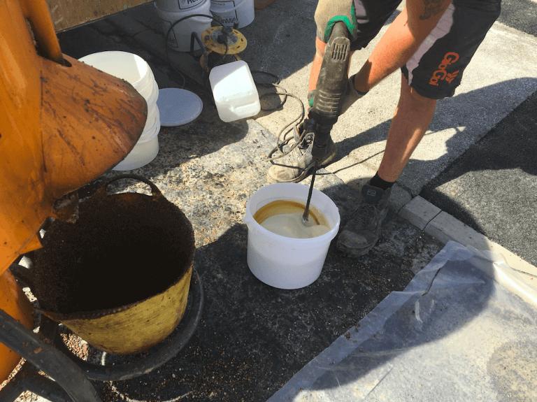 mixing resin bound pro