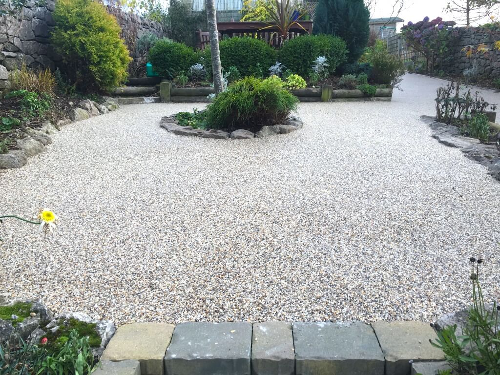 natural rockery and resin bound