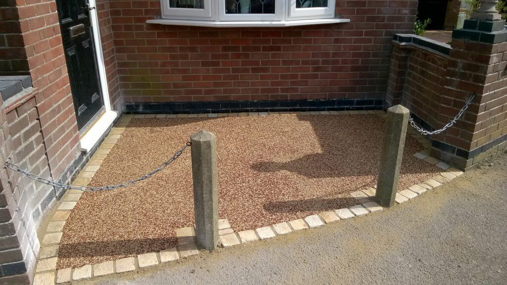 resin bound and hand made paving sets