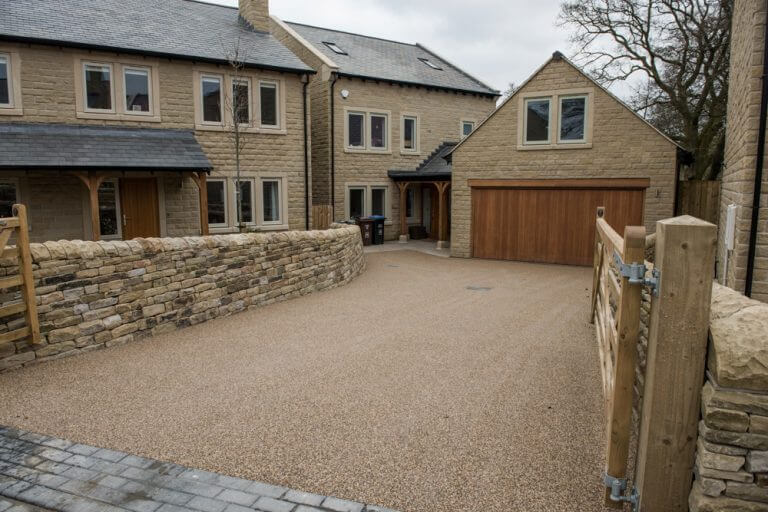 sand coloured resin bound driveway