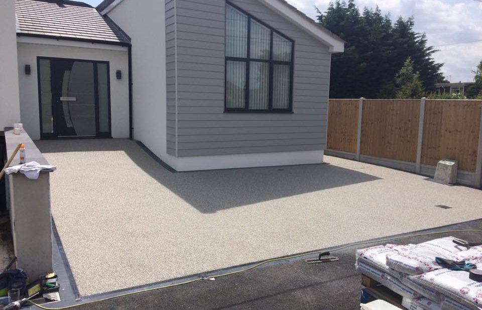 Titanium silver driveway 3
