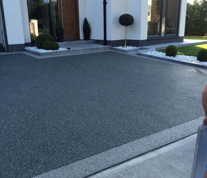 grey slate with titanium border