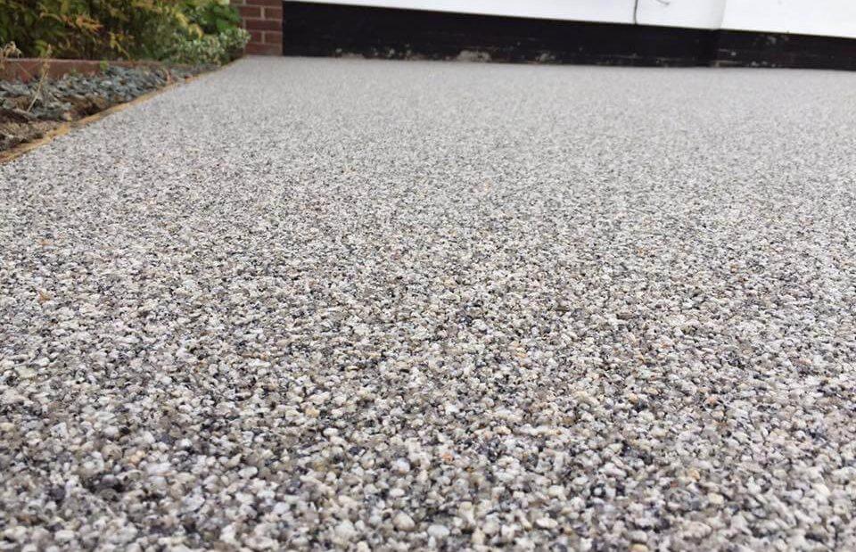 silver resin paving