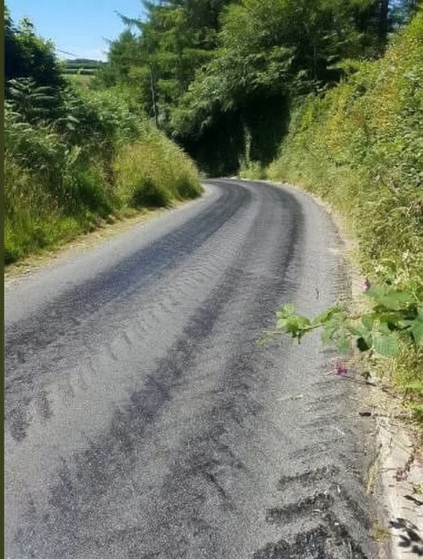 Melted Tarmac Road