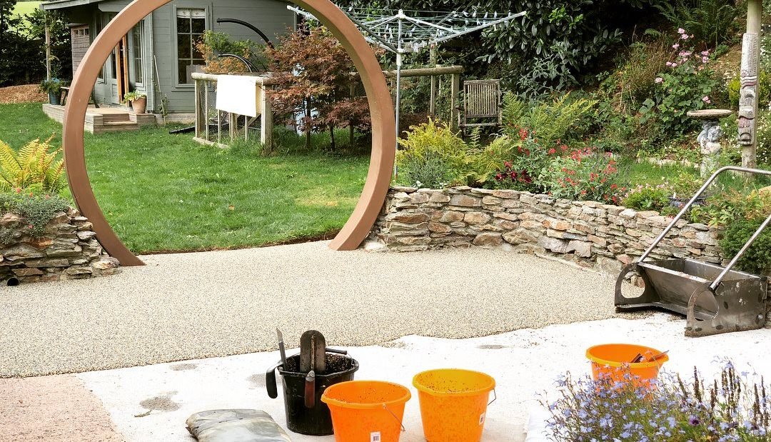 Ireland green resin patio install