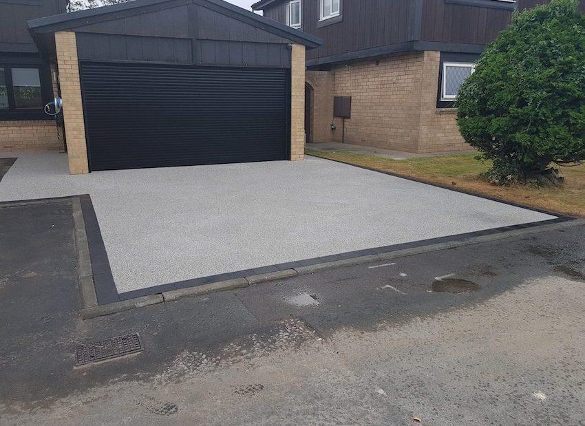 silver driveway resin